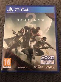 Destiny 2 PS4, £27 or nearest offer.