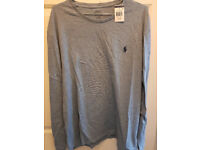 100% AUTHENTIC & BRAND NEW XL Blue Polo Ralph Lauren Men's Long Sleeve T-Shirt