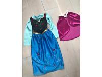 Girls Disney frozen costumes, dolls and rucksack