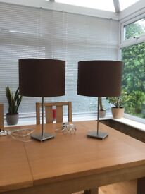 Lamps Bedside or Lounge (Pair)