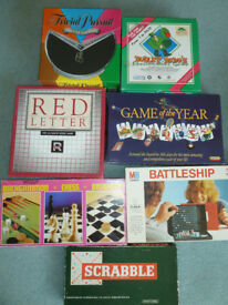 BOX of 7 Family Board Games