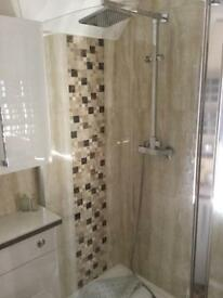 East brook curved shower screen
