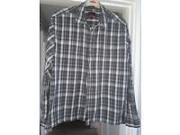 Men's Grey stripe QuikSilver shirt size L