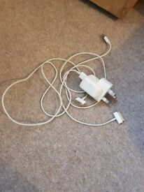 Genuine Apple 10w USB Mains Charger Power Adapter & 2 CABLES iPod iPhone iPad