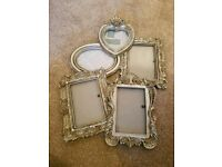 Dunelm multi photo frame in silver
