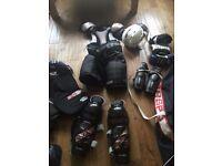 In line/ice hockey gear(aged 8-10)