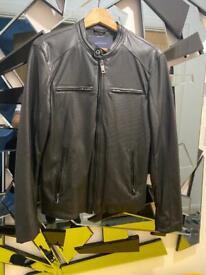 Men's Zara leather jacket