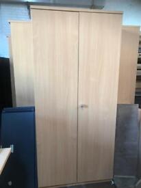 Double Door Beech Stationary/ Storage Unit