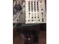 Dj equipment speaker mixer amplifier cd turntable