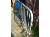 Galvanised fence