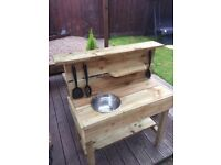 SPECIAL OFFER NOW ONLY £39 KIDS/CHILDS OUTDOOR MUD KITCHEN GREAT HANDMADE CHRISTMAS GIFT IDEA