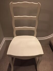 Space child's French chair silk white
