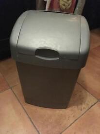 Grey kitchen swing bin 50l