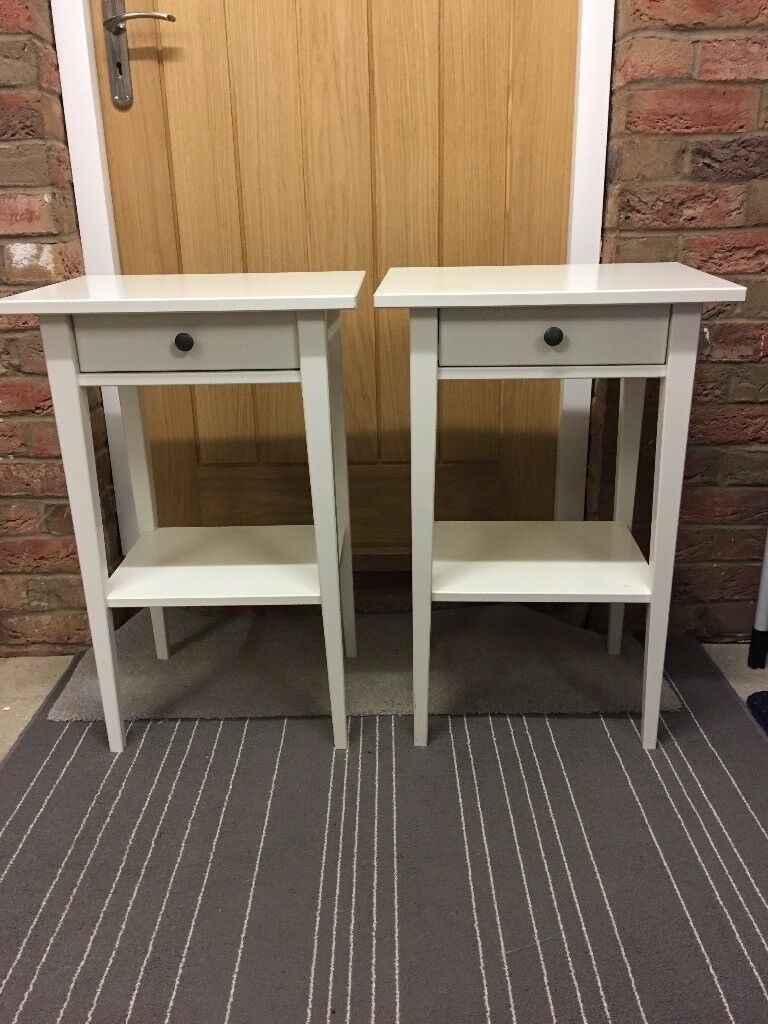 Ikea White Bedside tables x 2