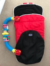 Chicco stroller footmat and toy