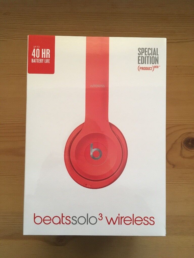 BRAND NEW UNOPENED Beats Solo3 Headphones in (product)RED for sale