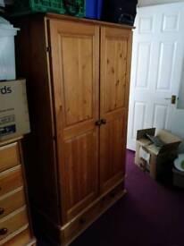 Double oak wardrobe set
