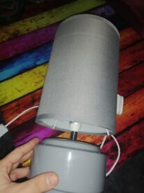 Grey Bedside Lamp with LED bulb