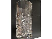 4 cut glass crystal hi - ball glasses