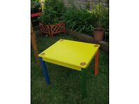 SUPER COOL KIDS ACTIVITY TABLE, NEW, HAND PAINTED! BS16. FISHPONDS.