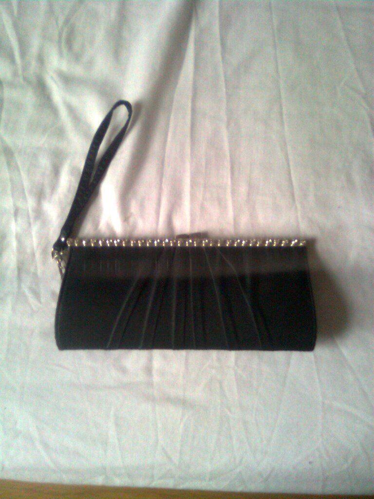 Ladies clutch bag, black, New Look