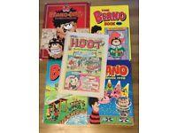 The Beano Books 1986 1989 1990, It's a Hoot 1986, The Beano & the Dandy celebrate Dennis Demance