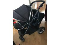 OYSTER MAX TANDEM WITH CAR SEAT & EASY BASE (NO SECOND SEAT)