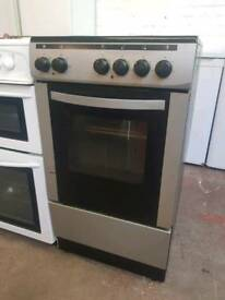 Currys silver freestanding electric cooker