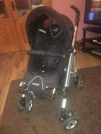 Excellent condition loola 'up' pram with muff and rain cover