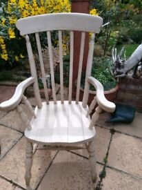 Solid Wood Large Carver Chair