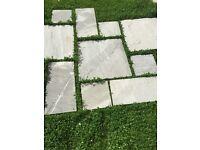 Patio slabs. 9m2 Silver Birch colour