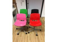 3 x Ikea coloured chairs (£5 each)