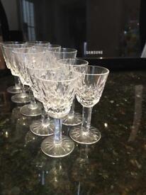 10 cut crystal glasses