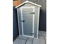 Keter Manor Shed 4x3ft - Garden Grey Shed, Lockable - Brand New
