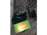 *** NOW TV SMART BOX , REMOTE AND WITH 3 MONTH ENTERTAINMENT PASS ***