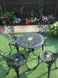 Cast iron patio set