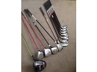 Quality set of clubs-Taylor made Burner woods/Irons,Cobra woods and Anser Iron