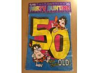 JOBLOT 30 LARGE BIRTHDAY PARTY BUNTINGS 50th