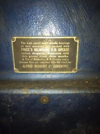 1940'2 Vintage Milling Machine for sale. Alfred Herbert Ltd, Coventry