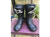 Alpinestars Race Boots - Leather Black Boots