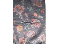 2 PAIRS CURTAINS, 100% COTTON, UNLINED, W - 167CM X DROP - 137CMS. PER CURTAIN. SELL SEPARATELY,