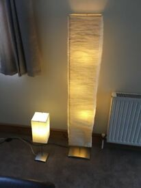 Pair of Ikea Lamps floor lamp and table light