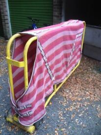 Waffle Horse Pink Stable Rug Sheet - 6'9