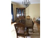 6 seater walnut dining room table