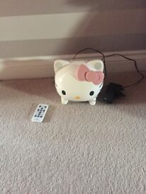 Hello kitty docking station with remote control, compatible with iPod .