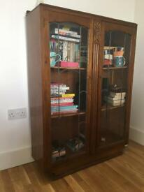 Vintage arts and crafts display cabinet/bookcase