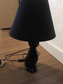 Cat figurine black lamp