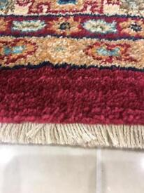 Designer Persian rug with frills on ends