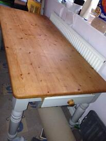 Antique pine shabby chic table
