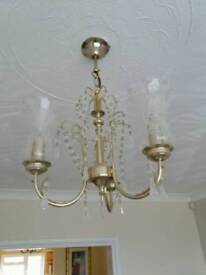 Ceiling light and 2 matching wall lights